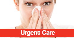 Woman Blowing Nose for Urgent Care